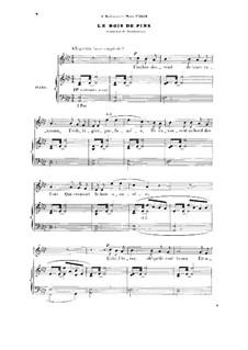 Три мелодии, два дуэта и трио, Op.2: No.2 Le bois by Жюль Массне