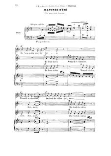 Три мелодии, два дуэта и трио, Op.2: No.6 Matinée d'été by Жюль Массне