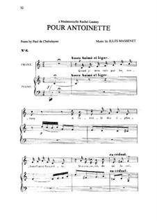 Pour Antoinette: До мажор by Жюль Массне