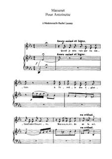 Pour Antoinette: Ми-бемоль мажор by Жюль Массне