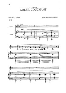Soleil couchant: In C Minor by Жюль Массне