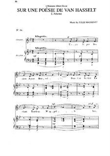Sur une poésie de Van Hasselt: Си-бемоль мажор by Жюль Массне