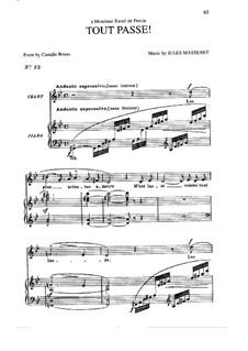 Tout passe: In G Minor by Жюль Массне
