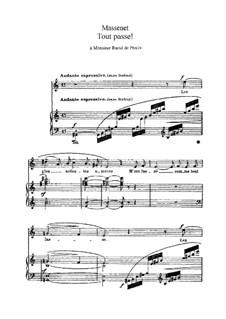 Tout passe: In A Minor by Жюль Массне