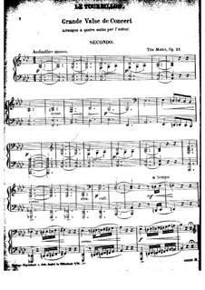 Le Tourvillon, Op.22: Для фортепиано в 4 руки by Тито Маттеи