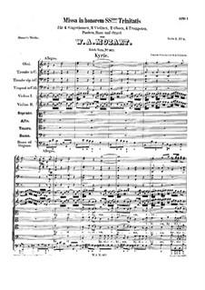 Месса No.7 до мажор (Missa in honorem Sanctissimae Trinitatis), K.167: Месса No.7 до мажор (Missa in honorem Sanctissimae Trinitatis) by Вольфганг Амадей Моцарт