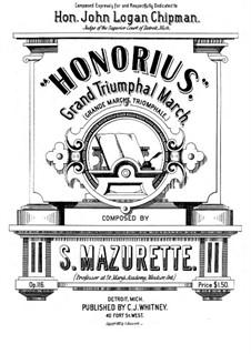 Honorius, Op.116: Honorius by Salomon Mazurette