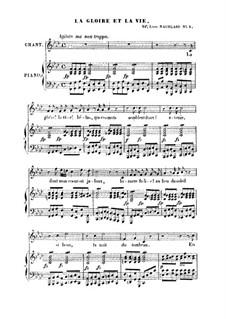 La gloire et la vie: La gloire et la vie by Франц Шуберт