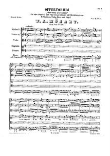 Sub tuum praesidium, K.198: Sub tuum praesidium by Вольфганг Амадей Моцарт