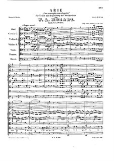 Con ossequio, con rispetto, K.210: Партитура by Вольфганг Амадей Моцарт