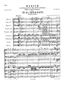 Марш ре мажор, K.249: Марш ре мажор by Вольфганг Амадей Моцарт