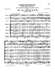 Sancta Maria, Mater Dei, K.273: Sancta Maria, Mater Dei by Вольфганг Амадей Моцарт