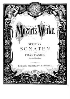 Соната для фортепиано No.1 до мажор, K.279: Для одного исполнителя by Вольфганг Амадей Моцарт