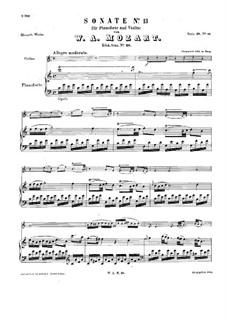 Соната для скрипки и фортепиано No.13 до мажор, K.28: Партитура by Вольфганг Амадей Моцарт
