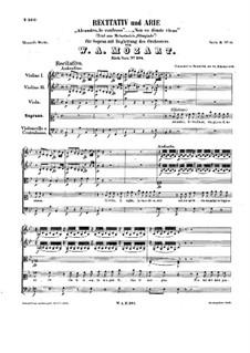 Alcandro, Io confesso, K.294: Alcandro, Io confesso by Вольфганг Амадей Моцарт