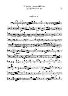 Симфония No.31 ре мажор 'Парижская', K.297: Партии фаготов by Вольфганг Амадей Моцарт