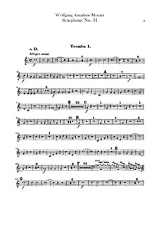 Симфония No.31 ре мажор 'Парижская', K.297: Партии труб by Вольфганг Амадей Моцарт