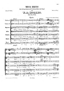 Месса No.2 ре минор (Missa brevis No.2), K.65: Месса No.2 ре минор (Missa brevis No.2) by Вольфганг Амадей Моцарт