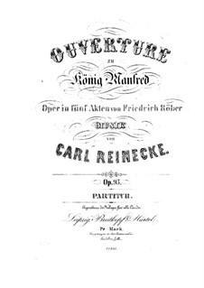Король Манфред, Op.93: Увертюра by Карл Райнеке