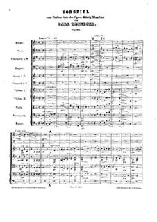 Король Манфред, Op.93: Прелюдия к пятому акту by Карл Райнеке