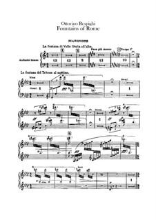 Фонтаны Рима: Партия фортепиано by Отторино Респиги