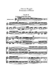 Фонтаны Рима: Скрипка II by Отторино Респиги