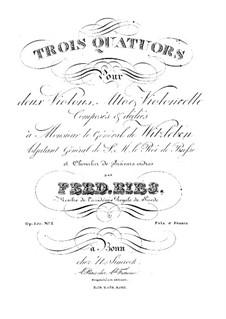 Струнный квартет No.1 ля минор, Op.150: Струнный квартет No.1 ля минор by Фердинанд Рис