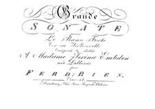 Большая соната для валторны, Op.34: Партия фортепиано by Фердинанд Рис