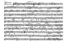 Большая соната для валторны, Op.34: Партия валторны by Фердинанд Рис