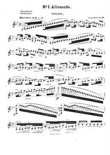 Сюиты для скрипки и фортепиано No.1, 2, 4, Op.26, 27, 38: Сольная партия by Франц Рис