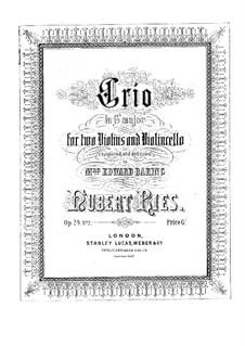 Три струнных трио, Op.24: Трио No.2 соль мажор by Губерт Рис