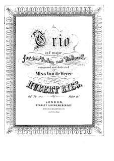Три струнных трио, Op.24: Трио No.3 фа мажор by Губерт Рис