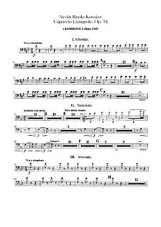 Испанское каприччио, Op.34: Партии тромбона баса by Николай Римский-Корсаков