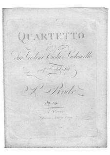 Струнный квартет соль минор, Op.14: Струнный квартет соль минор by Пьер Роде