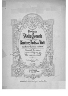 Скрипичный концерт No.11 ре мажор, Op.23: Для скрипки и фортепиано by Пьер Роде