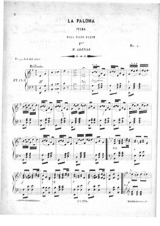 La Paloma. Polka for Piano: La Paloma. Polka for Piano by Miguel Ramón Arena Rodríguez