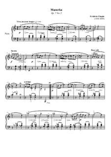 Мазурки, Op.7: No.2 ля минор by Фредерик Шопен