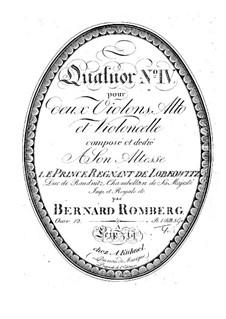 Струнный квартет No.4 фа мажор, Op.12: Скрипка I by Бернхард Ромберг