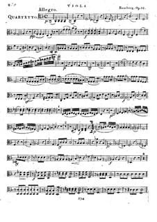 Струнный квартет No.4 фа мажор, Op.12: Партия альта by Бернхард Ромберг