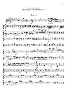 Севильский цирюльник: Увертюра – партии валторн by Джоаккино Россини
