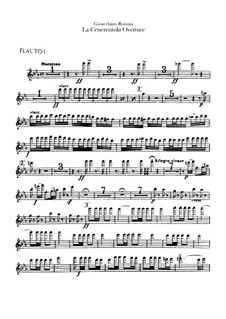 Золушка: Увертюра – партии флейт by Джоаккино Россини