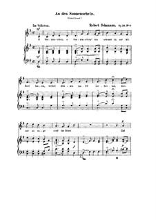 Шесть стихотворений, Op.36: No.4 К солнечному лучу (соль мажор) by Роберт Шуман