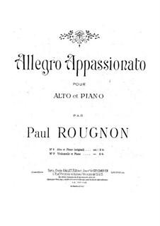 Аллегро аппассионато для альта и фортепиано: Аллегро аппассионато для альта и фортепиано by Поль Руньон