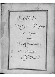 Мотеты для голоса, двух скрипок и бассо континуо: Сборник I by Джованни Баттиста Бассани