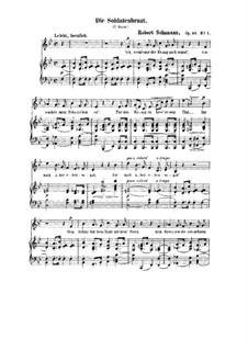 Романсы и баллады, Op.64: Nr.1 Die Soldatenbraunt by Роберт Шуман