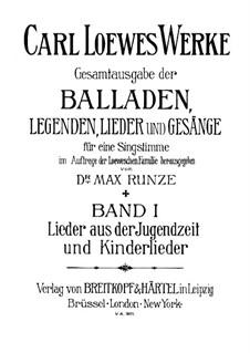 Полное собрание баллад, легенд и песен: Том I by Карл Лёве