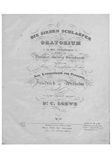 Семеро спящих, Op.46: Семеро спящих by Карл Лёве