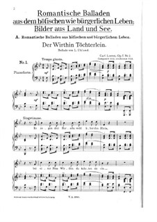 Полное собрание баллад, легенд и песен: Том X, No.1-6 by Карл Лёве
