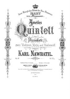 Фортепианный квинтет No.2 до минор, Op.17: Фортепианный квинтет No.2 до минор by Карел Навратил