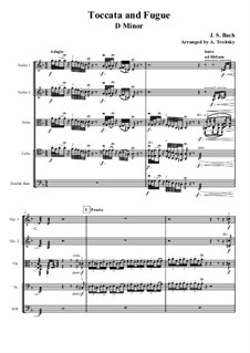Токката и фуга ре минор, BWV 565: Для струнного квартета by Иоганн Себастьян Бах